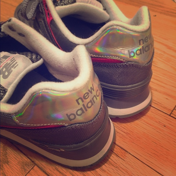 49cd2edb892f2 New Balance Shoes | 574 Holographic Heel Sneakers | Poshmark